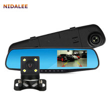NIDALEE Rearview Mirror Car DVR Camera Dual lens Full HD 1920*1080P Video Registrator Recorder Dash Cam Auto BlackBox Logger