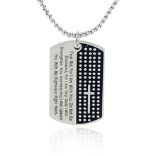 New Style Top Quality Bible text Cross  Black Gun Dog Tag Stainless Steel pendant Necklace XL-935