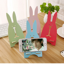 Cobao Bunny Styling Phone Holder for iPhone 7 Universal Mobile Phone Holder Stand Desk Mount Holder Stand for Samsung Tablet(China)