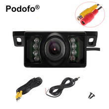 Podoofo Car Rearview Camera 7 LED Waterproof Night Vision HD Backup Camera Vehicle Short License Plate Parking Assistance System(China)