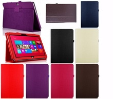 New PU Leather Case Cover For Microsoft Win8 Surface Rt 10.6 Tablet PC 5 Colors Optional Brown Black White Red Purple