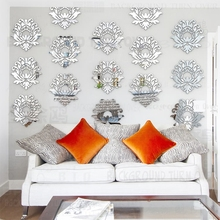 CCTV 2 SWAP SPACE selected elegant blooming lotus removable 3D wall stickers flower restaurant store home decoration R221(China)