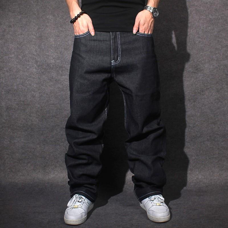 2015 Jeans Men Baggy Black Casual Rap Jeans Loose Pants Hip-Hop Loose Style Hip Hop Jeans For Boy Big Size 30-42 CHOLYLÎäåæäà è àêñåññóàðû<br><br>
