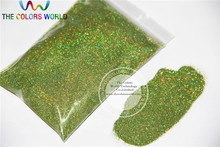 0.2mm Laser Light Green Color,holographic colors Glitter Powder Sprinking Dust(China)