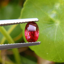 0.90 carat Natural No Heat Orange Red Ruby Loose Stone GIL certificate Internally Flawless(China)