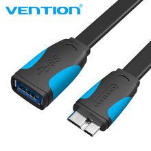 Vention Micro USB 3.0 Extension OTG Cable Adapter 3.0 USB Cable for Samsung Galaxy Note 3 S5 N9002 N9008 3.0 Micro USB(China)
