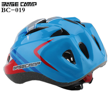 BASECAMP Kid Bicycle Helmets Hero Style Safety Bike Helmet Night Light Ultralight Breathable Children Cycling Helmet 50-56 cm(China)