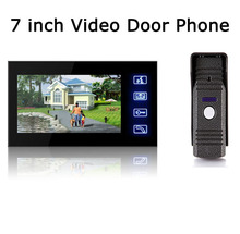 DHL Freeshipping NEW Hot Wired Video Door Phone Audio Visual Intercom Entry System For House Villa 1V1