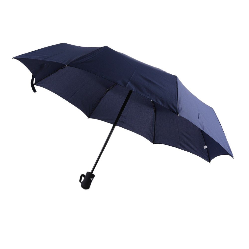 17 New 94*66cm Durable Fashionable Advanced Fully-Automatic UV-proof Three Folding Business Solid Sunshade Rain Umbrella 4