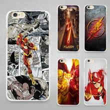 Flash Man Superhero Hard White Cell Phone Case Cover for Apple iPhone 4 4s 5 SE 5s 6 6s 7 Plus