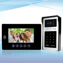 Home 7 inch TFT LCD Wired Monitor Color Video Door Phone+IR COMS Outdoor Camera With  RFID Keypad Doorphone For Intercom System