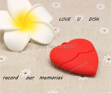 USB Flash Drive 64G Pen Drive 32G Pendrive 16G 8GB 4G Hot Sale Cartoon Red Love Heart Model Pendrive USB2.0 U Disk Free Shipping