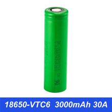 Original VTC6 E cigarette Battery 18650 30A 3000mAh Vape Box Mod Rechargeable Battery SMOK X Priv Alien Mag G Priv 2 M001