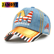 JAMONT Fashion Hip Hop Style Snapback Baseball Caps Stripped Baby Girl Spring And Summer Sun Hat Adjustable Kids Baseball Cap(China)