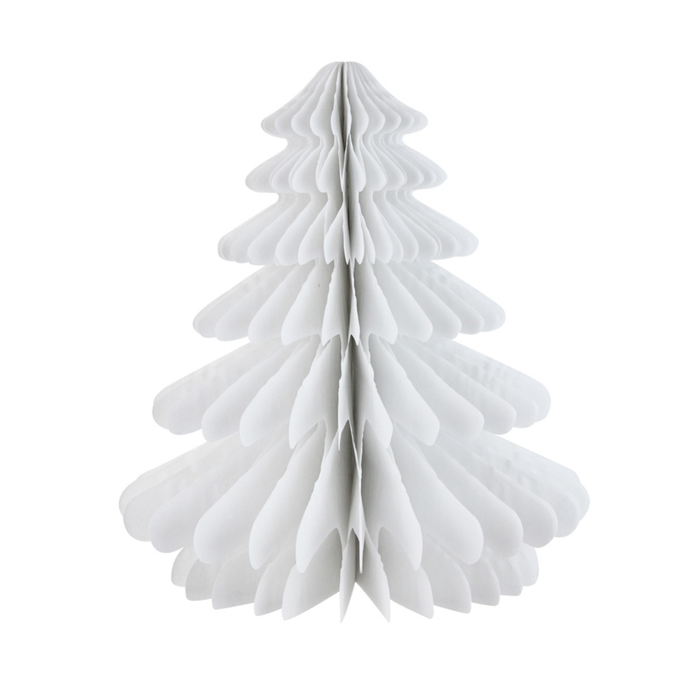 27cm Honeycomb Christmas Trees 3D Tissue Paper Tree Table ...