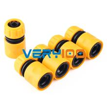 "5pcs Lot 1/2"" Plastic Water Pipe Tube Hose Coupler Plumbing Connector Garden Wash Coupler(China)"