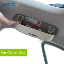 Car Front Sun Glasses Case Box Auto Decoration Case for Audi A4 B6 B7 B8 A3 A6 C5 A5 Q3 Q5 Q7 TT A1 A8 A2 S3 S4 R8 RS4 RS5 RS7