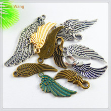 Buy Unique 20pcs Vintage Wings Charms Fit Jewelry Making Necklace Bracelet Small Handmade Crafts Accessory Christmas Gifts Pendant for $2.19 in AliExpress store