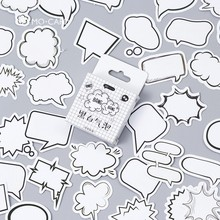 45PCS/box Creative Dialog Box Album Paper Lable Stickers Crafts And Scrapbooking Decorative Lifelog Sticker Cute Stationery(China)