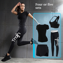 2017 new brand sport suit for women running sportswear Hoody running thickened Yoga running tracksuits fitness top quality