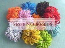 4*50MM 200Pcs Mixed Colors Round Elastic Band Stretch Rope Bungee Cord DIY Hair Accessories