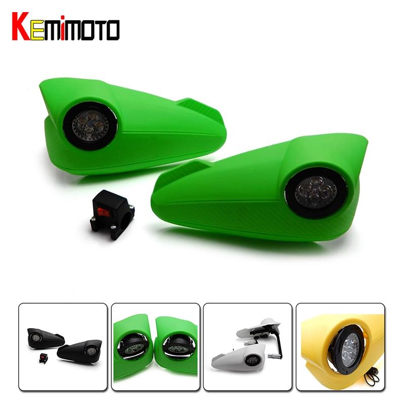 KEMiMOTO 7/8 22mm Handlebar Motorcycle LED Turn Signal Bar Handguard Protector for Kawasaki Z750 Z800 Z1000 Ninja 300<br>