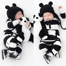 Super Cute Infants Baby Girls Boys Zebra Stripe Rompers Clothes Long Sleeve Romper Outfits 0-3Y Clothing