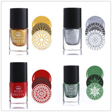 BORN PRETTY 18 colors 1pc Xmas Color 6ml Stamp Stamping Polish Nail Art Varnishes Nail Plate Printing Polish