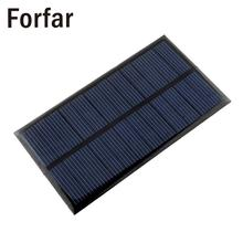 Forfar Mini 6V 1W Solar Power Panel Solar System Module DIY For Light Battery Cell Phone Toys Chargers camping survival kit