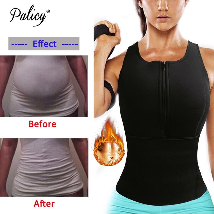 Palicy Neoprene Sauna Vest Body Shaper Slim Waist Trainer Fashion Fajas Girdle Workout Shapewear Adjustable Sweat Belt Corset 2