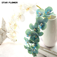 STAR FLOWER Nearly Natural Phalaenopsis Silk Orchid Flower Arrangement 8 colors 01015