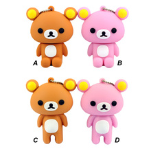 Pen Drive 8GB, 4GB 8GB 16GB 32GB 64GB Cartoon bear unlucky bear easily usb wired personality notebook optical mouse wholesale