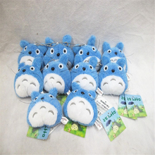 "8cm/3"" Anime Studio Ghibli My Neighbor Totoro Blue Totoro Plush Pendant Keyring 1pc Collection 6012604(China)"