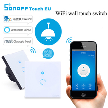 Sonoff Light Wifi Switch,Smart Home Touch Panel Wireless Control Wall Remote Switch, Wifi Control Via Phone/ Alexa / Google Home(China)
