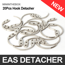 20Pcs/lot Security Detacher The EAS System Mini Tag Remover Hook Key Detacher Handheld One