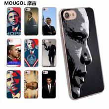 MOUGOL Barack obama design transparent clear hard case cover for Apple iPhone 6 6S 6Plus 7 7Plus 5 5s SE 5C(China)