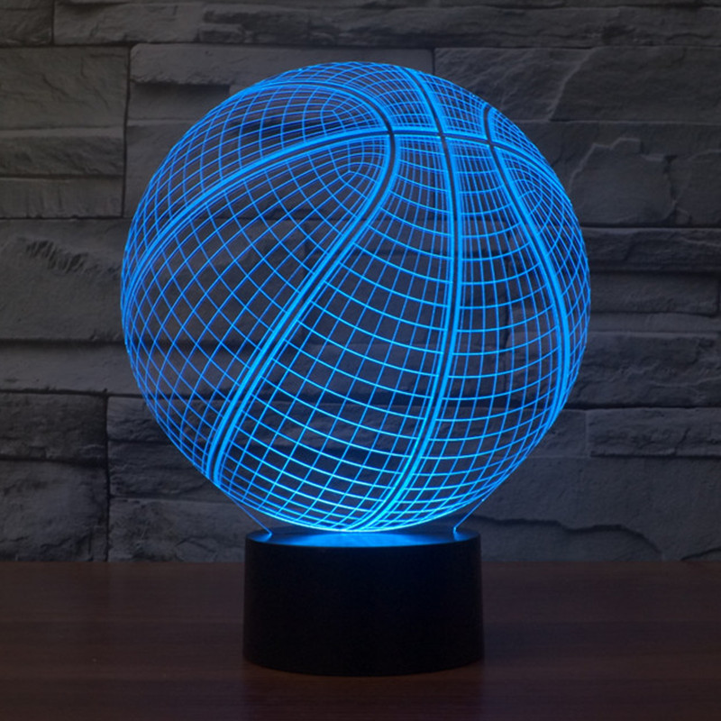 3D Atmosphere lamp 7 Color Changing Visual illusion LED Decor Lamp Basketball Home Table Decoration for Child Gift<br><br>Aliexpress