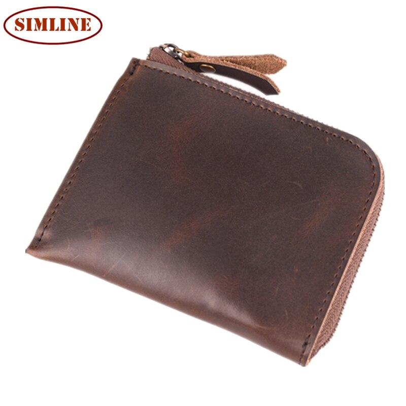 Men Wallets Genuine Leather Wallet Hasp Design Men Wallets With Coin Pocket Purse 2017 New Gift Card Holder For Men Carteira<br><br>Aliexpress