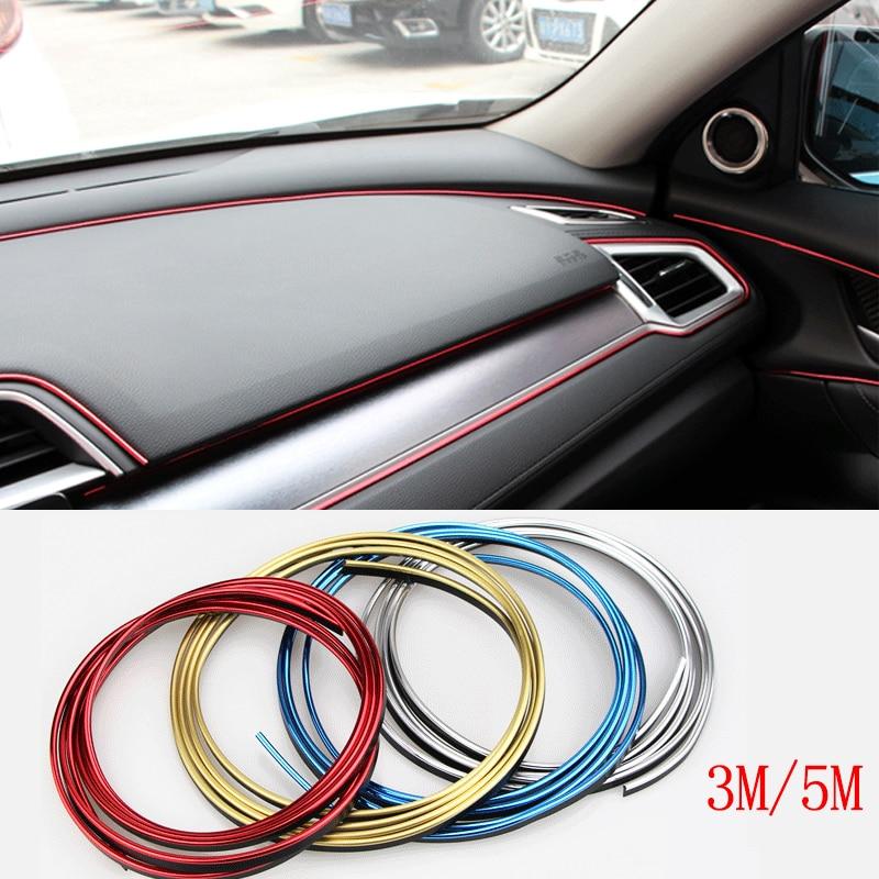 5m Red Chrome Car Door Edge Scratch Guard Moulding Decorative Trim Strip