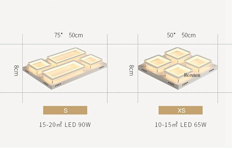 Modern Led Ceiling Light For Living Room Bedroom Kitchen Dimmer Simple LED Ceiling Lamp Home Lighting (9)