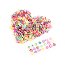 1000Pcs/Bag Nail Art Polymer Clay Canes Fruit Stickers Set Gel Polish Tips Fashion DIY Cute Fruit&Flower Decor Decals Kits