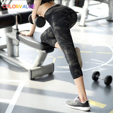 Buy Colorvalue Retro Medium Waist Sport Yoga Capri Pants Women Quick Dry Printed Fitness Leggings Crossfit Training Cropped Trousers for $18.95 in AliExpress store