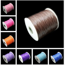 5m 2mm Wax Cord Thread Cotton Cords String Strap Necklace Rope Beads For Jewelry Making Bracelets Necklace DIY Jewelry Cord