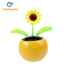 LeadingStar Solar Toy Mini Dancing Flower Sunflower Great as Gift or Decoration Ship in Random Color(China)