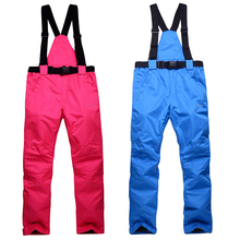 Winter Ski Pants Women Soft Shell Pants Plus Size Waterproof Snow Pants Thicken Ski Hiking Pant Man Snowboard Trousers Outdoor(China)