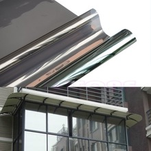 50cm x 2M Window Film One Way Mirror Solar Reflective Insulation Silver Stickers New XQ Drop shipping