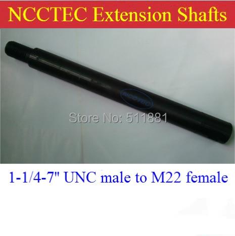 16 long 1-1/4-7 UNC male to M22 female Core Bit pole Extension CDE16UNC   400mm length core bits extension shaft<br>