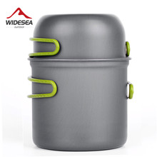 Ultralight Camping Cookware Utensils outdoor tableware set Hiking Picnic Backpacking Camping Tableware Pot Pan 1-2persons(China)