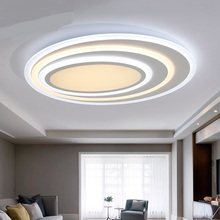Modern ring LED ceiling lights living room badroom hotel decorations Warm/cold of modern art atmosphere led ceiling lamps ZAG