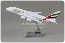 20cm Metal Plane Model Air Emirates Airlines A380 A6-EDB Airplane Model Airbus 380 Airways w Stand Aircraft Crafts Gift